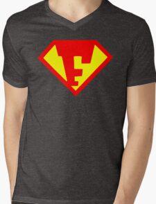 Super Monogram F Mens V-Neck T-Shirt