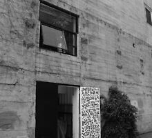 Black and White Photo of Door to Artists' Studio by Jen Soh