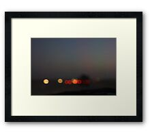 Blurred lights 4 Framed Print