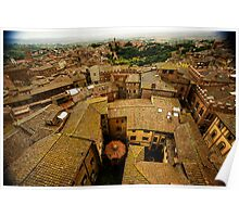 Siena roofs 2 Poster