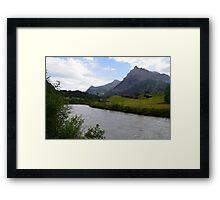 A multitude of landscapes. Framed Print