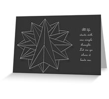 Crystalite Mandala Card white on grey w/msg Greeting Card
