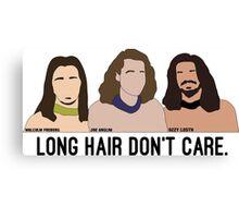 Long Hair Don't Care Canvas Print