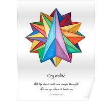 Crystalite Mandala Print w/msg Poster