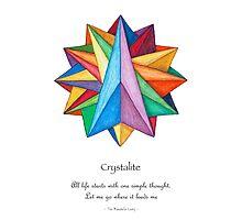 Crystalite Mandala Print w/msg Photographic Print