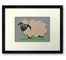 Happy Lamb Framed Print