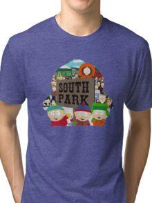 South Park Silhouette  Tri-blend T-Shirt