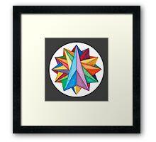 Crystalite Mandala Print w/grey matte Framed Print