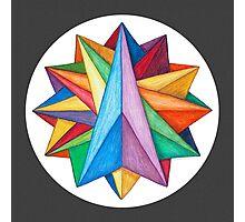 Crystalite Mandala Print w/grey matte Photographic Print