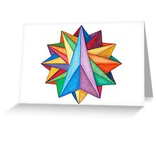 Crystalite Mandala Card Greeting Card