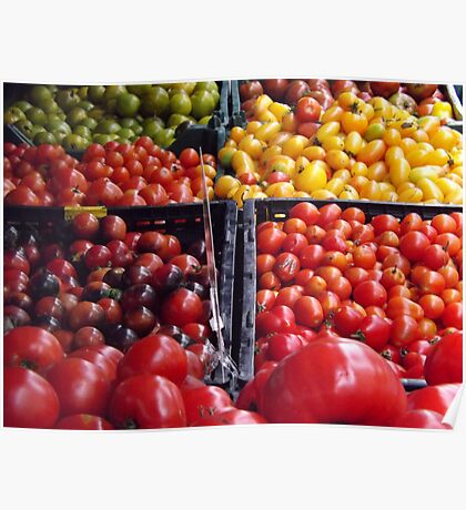 Colorful Fruit, Union Square Farmers Market, New York City Poster