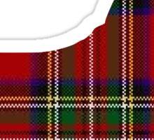 Red Tartan Scotty Dog Sticker