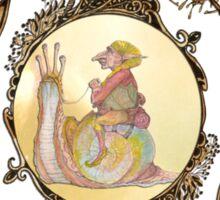 The Technicolor Snail And His Trusty Gnome Sticker