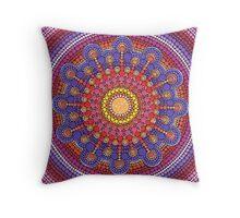 Jewel Drop Mandala Throw Pillow