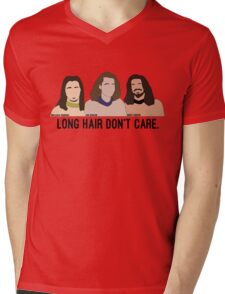 Long Hair Don't Care Mens V-Neck T-Shirt