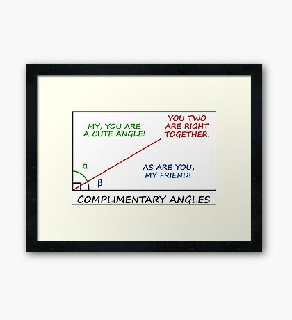 Complimentary Angles Framed Print