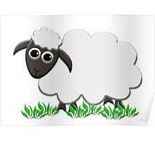 A Wooly Lamb Smiles Poster
