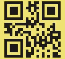 Black Smiley ☻ Happy Face -- QR Code by tinybiscuits