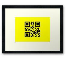 Black Smiley ☻ Happy Face -- QR Code Framed Print