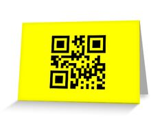 Black Smiley ☻ Happy Face -- QR Code Greeting Card