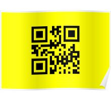 Black Smiley ☻ Happy Face -- QR Code Poster