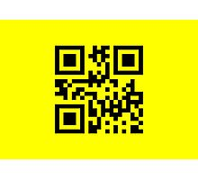 Black Smiley ☻ Happy Face -- QR Code Photographic Print