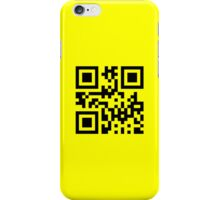 Black Smiley ☻ Happy Face -- QR Code iPhone Case/Skin