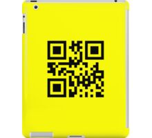 Black Smiley ☻ Happy Face -- QR Code iPad Case/Skin