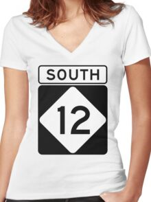 NC 12 - SOUTH Women's Fitted V-Neck T-Shirt
