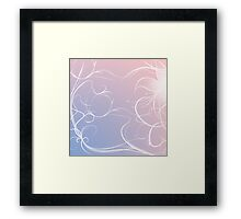 Pantone Colour Of The Year butterfly and swirls  Framed Print