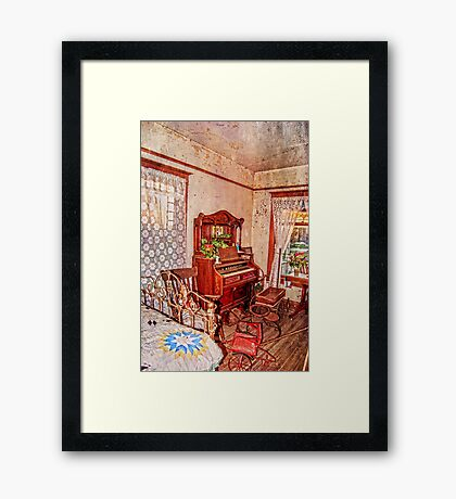 A Small House in Town Framed Print