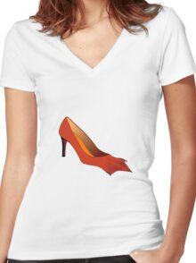 Duck Feet Women's Fitted V-Neck T-Shirt