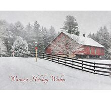 Warmest Holiday Wishes Photographic Print