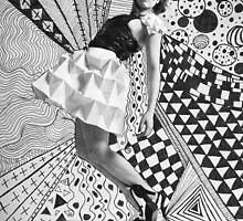 Paper dress collage by Sophie Higgins