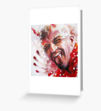 Red Spotted Shirt (Devil) Greeting Card