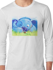 Photographer - Rondy the Elephant with photo camera Long Sleeve T-Shirt