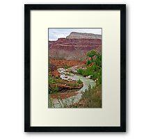 Havasu Creek from Lower Navajo Falls  Framed Print