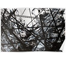 Wired Abstract Painting Poster