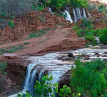 Upper and Lower Navajo Falls  by Robert Meyers-Lussier