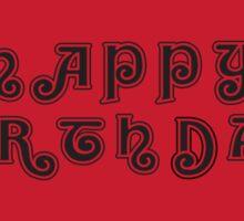Happy Birthday Rocky Sticker