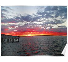 Long Beach, NY  Sunset  from the Long Beach Dept of Rec   4941 Poster