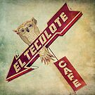 El Tecolote Cafe Sign  by Honey Malek