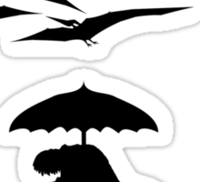 T-Rex vs the Pterodactyls Sticker