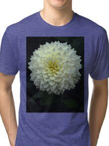 White dahlia flower Tri-blend T-Shirt