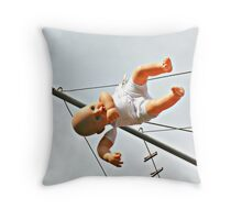 Time out doll Throw Pillow