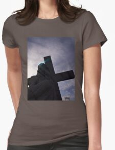 Aura of Jesus Womens Fitted T-Shirt
