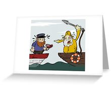 Fisherman and the Whaler Greeting Card