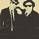 BLUES BROTHERS MOVIE POSTER by JazzberryBlue