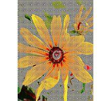 Yellow sunflower design vertical view Photographic Print