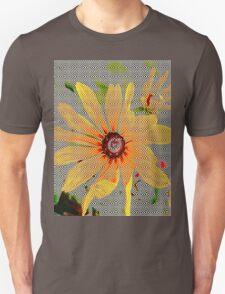 Yellow sunflower design vertical view Unisex T-Shirt
